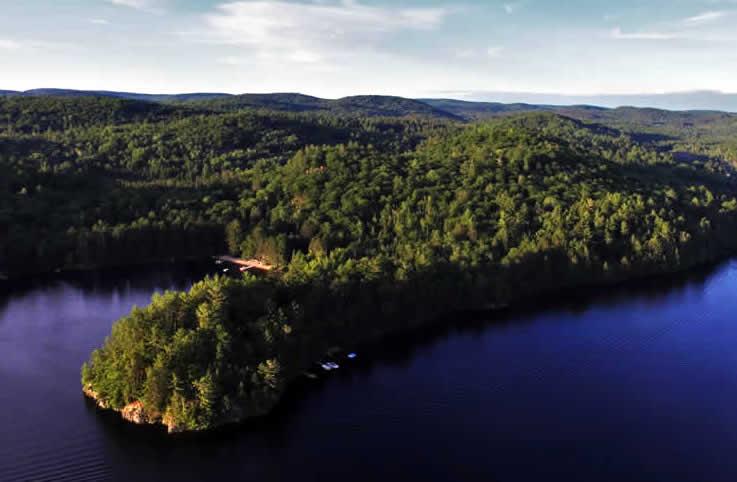 ariel shot of a lake