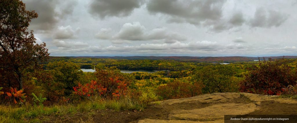 andrew dunn looking out over madawaska valley in the fall